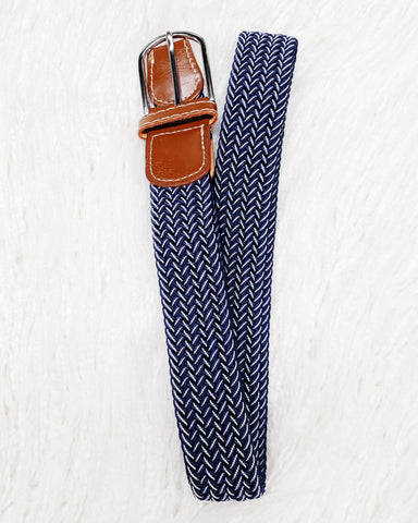 Urban Horsewear Navy/White Stretch Belt