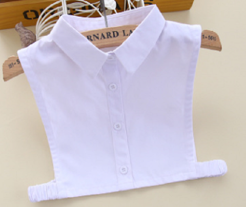 Childrens Collar Show Shirt Bib - White