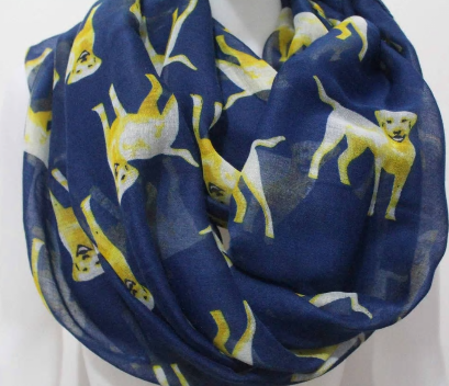 Navy Labrador Retriever Dog Scarf