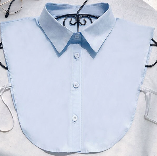 Light Blue Collar Shirt Bib Shirt