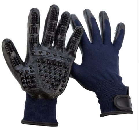 Grooming / Massage Gloves Black or Navy (pair)