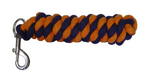 Orange & Navy Blue Cotton Lead Rope