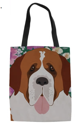 St Bernard Dog Tote Bag
