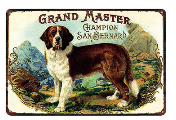 St Bernard Dog Sign