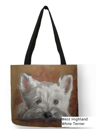 West Highalnd White Terrier Dog Tote Bag