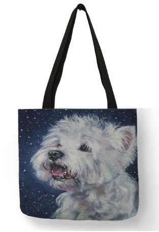 West Highland White Terrier Dog Tote Bag
