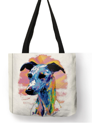 Greyhound Dog Tote Bag