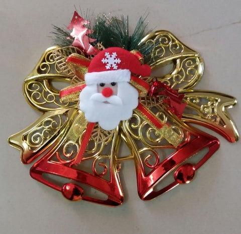 Bells For Decoration Beauteous Christmas Bells Golden And Red  Christmas Decoration Item Design Inspiration