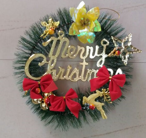 Christmas Decorated Wreath - Christmas Tree Decoration Item