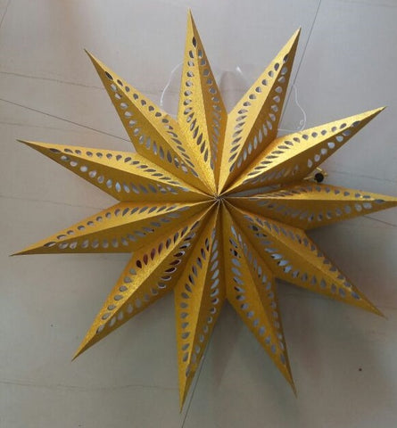 Christmas Star -  Gilt Star - Laser Printed ( Available in Golden, Green, Red, Blue and  Violet)