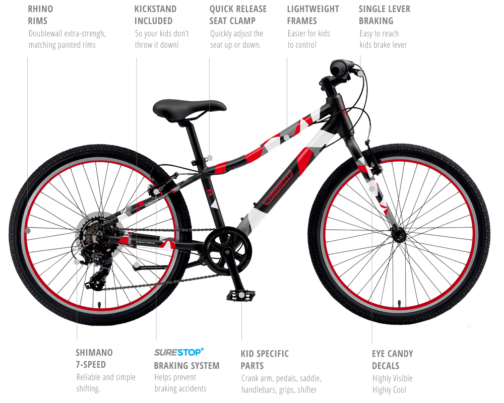 24 Inch Kids Bikes, Free Shipping & 100 Day Trial   Guardian ...
