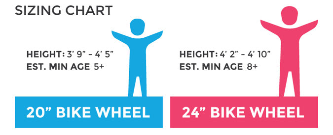 guardian kids bike sizes