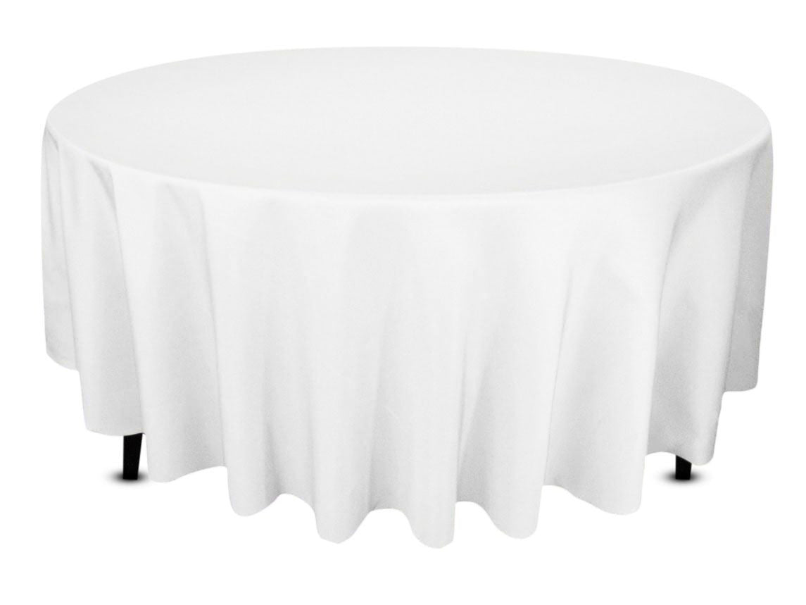 White round tablecloths cheap - 108 Round Tablecloth