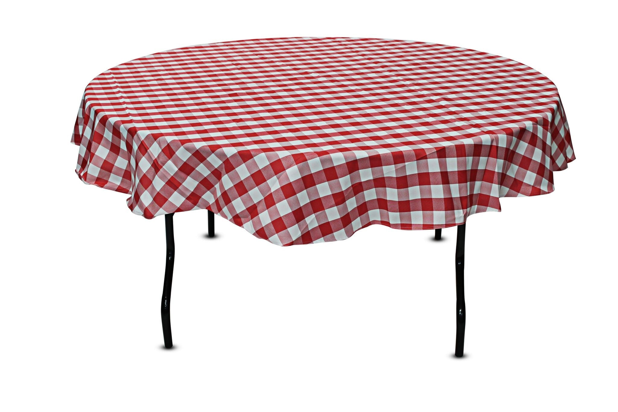 Superb 80u0027u0027 Round Checkered Tablecloth ...