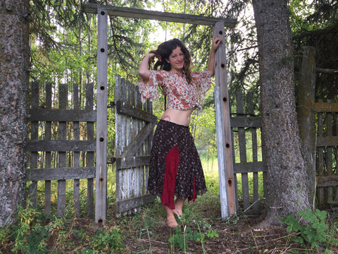 'Heartwood' Upcycled Skirt