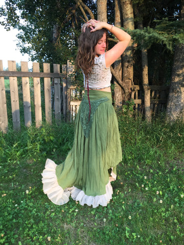 'Earth Angel' Upcycled Skirt