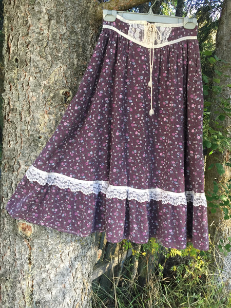 'Lavender Rose' Vintage Skirt