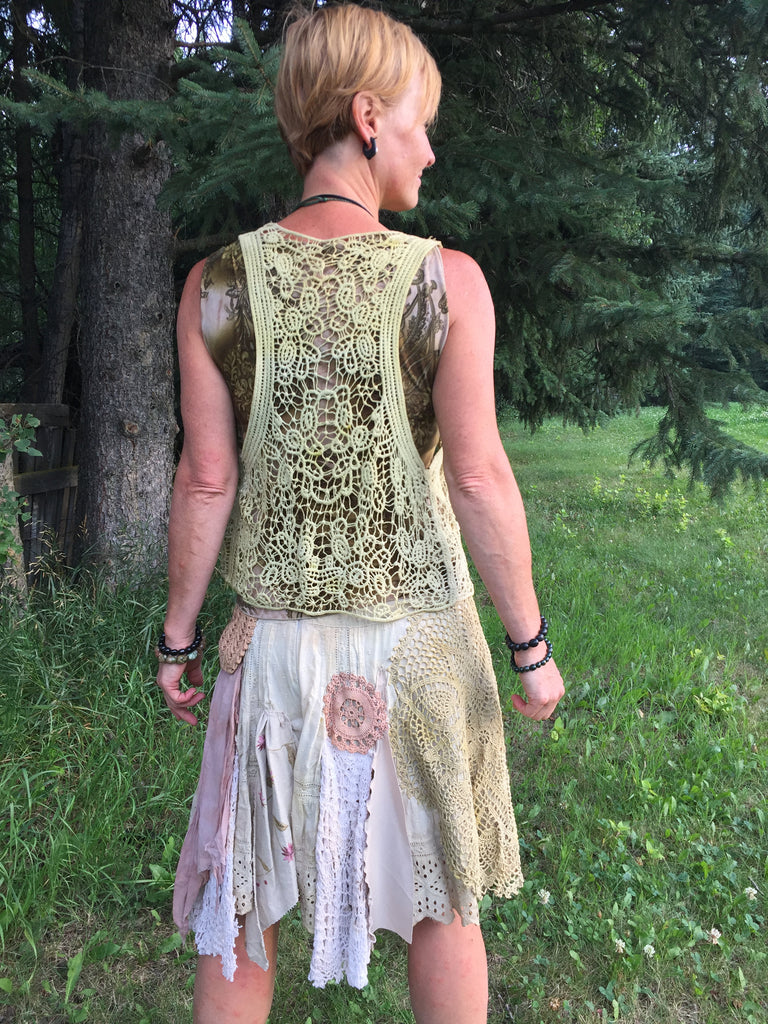 'Carrot Top' Botanically Dyed Vest