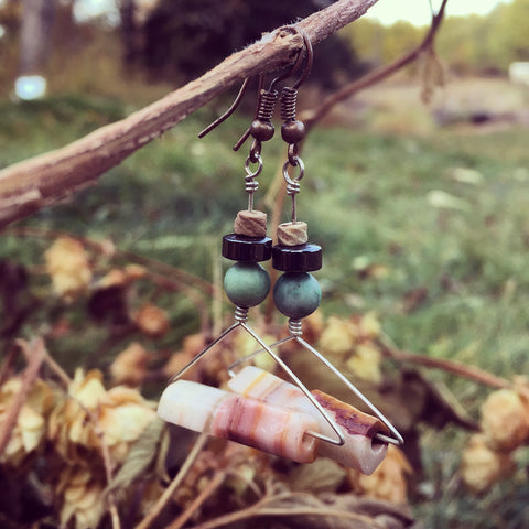 'Hang On' Upcycled Earrings