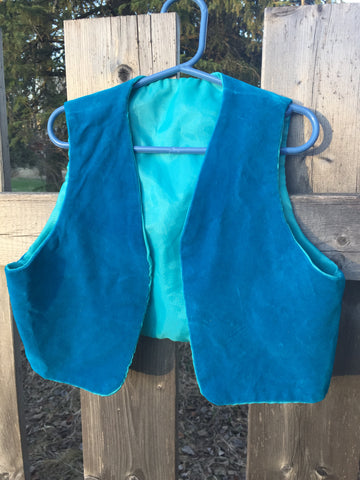 'True Blue' Upcycled Vest