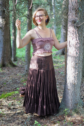 'Bohemian Mama' Upcycled Skirt