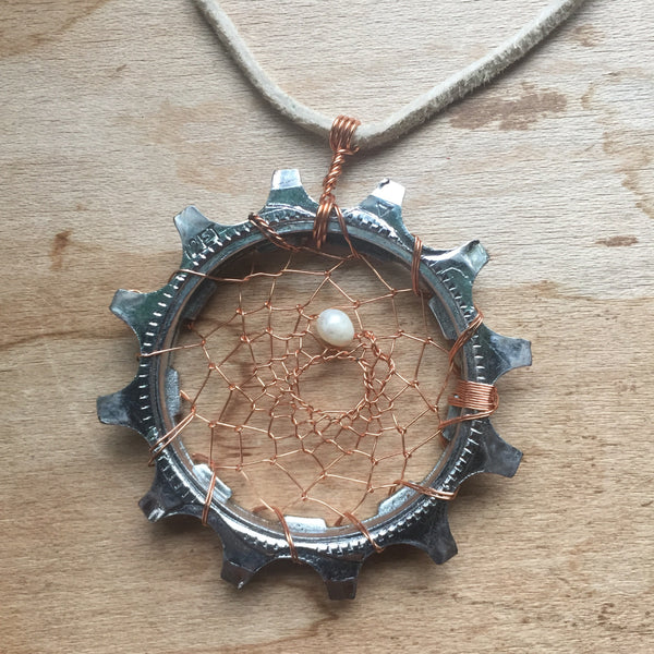 'Dreamweaver' Up-Cycled Necklace