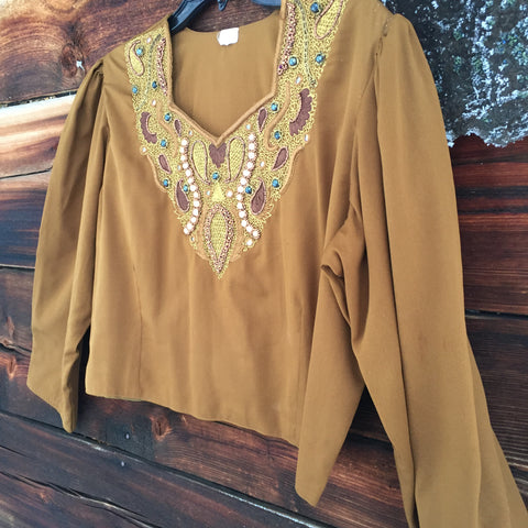 'Bronze Goddess' Top