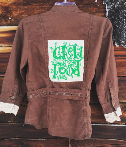 'Grow Food' Upcycled Top