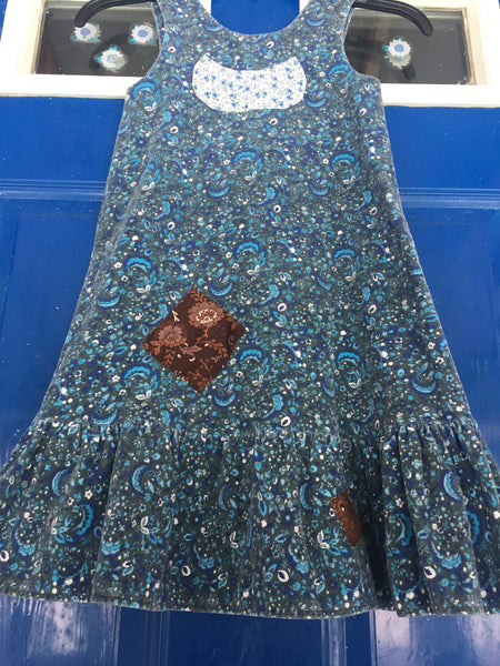 'Violets are Blue' Upcycled Dress