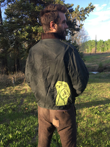 'Plant Wizard' Vintage Flight Jacket