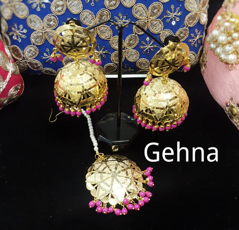 Alini Earrings and Tikka