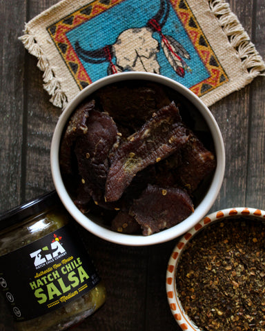 Homemade Hatch Green Chile Beef Jerky