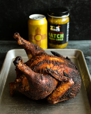 Hatch Green Chile Beer Can Chicken