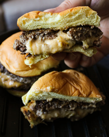 Hatch Green Chile Juicy Lucy Burger