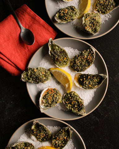 Hatch Green Chile Oysters Rockefeller