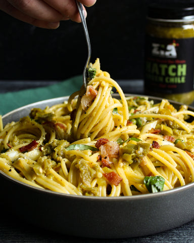 Hatch Green Chile Springtime Carbonara