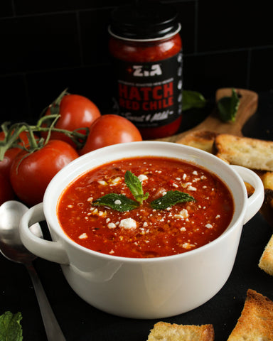 Hatch Red Chile Winter Tomato Soup