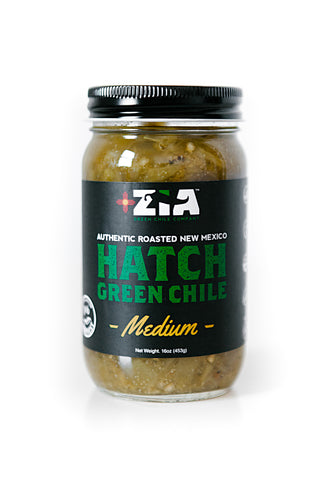 Roasted 2016 Harvest New Mexico Hatch Green Chile (MEDIUM)