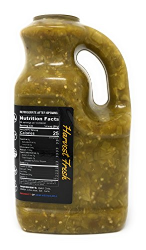 Roasted, Harvest Fresh Medium Hatch Green Chile (128oz Bulk Size)