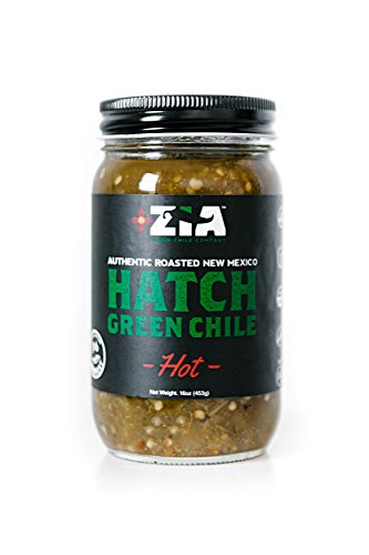 Roasted New Mexico Zia Hatch Green Chile (HOT) - 6 Pack