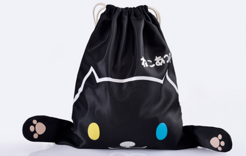 Neko Atsume Drawstring Bag