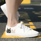 Cat Printed Canvas Shoes
