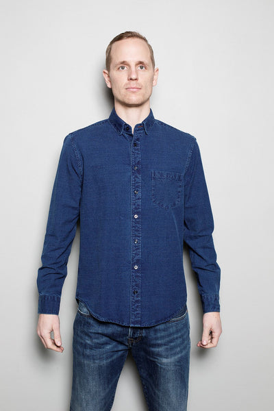 Buster Brown Shirt - Yarn Dyed Indigo // Stone Wash