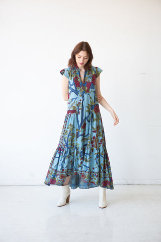 Miranda Maxi Dress - Sky Blue Tree of Life