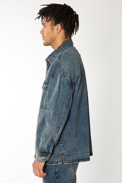 Overland Indigo Denim Shirt Jacket