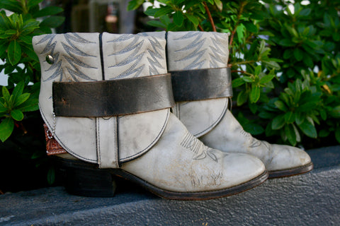 Canty Boot - Vintage Grey Boots with Marbling