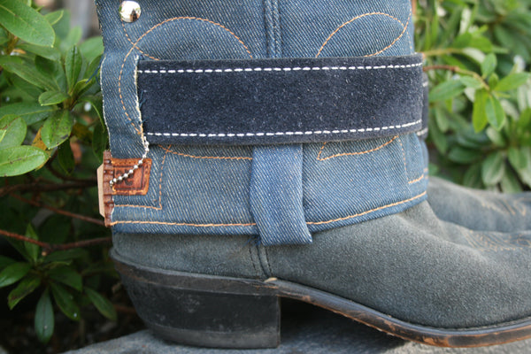 Canty Boot - Vintage Acme Denim with Rough Out Leather