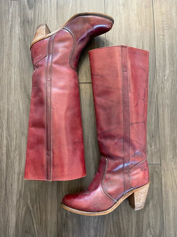 Vintage 1980's Dexter Oxblood Tall Boot