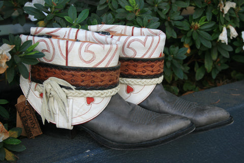 Canty Boots - Larry Mahan Grey Bottoms