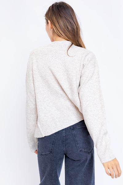 Soft Button Down Cardigan - Oatmeal
